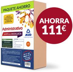 Paquete Ahorro de Administrativo de la Junta de Andalucía - Ahorra 111 euros