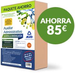 Paquete Ahorro de Auxiliar Administrativo de la Junta de Andalucía - Ahorra 85 euros