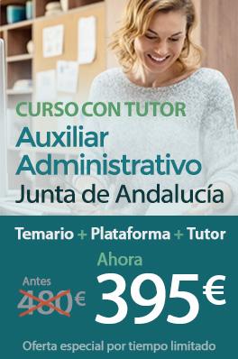 Curso con Tutor - Auxiliar Administrativo de la Junta de Andalucía