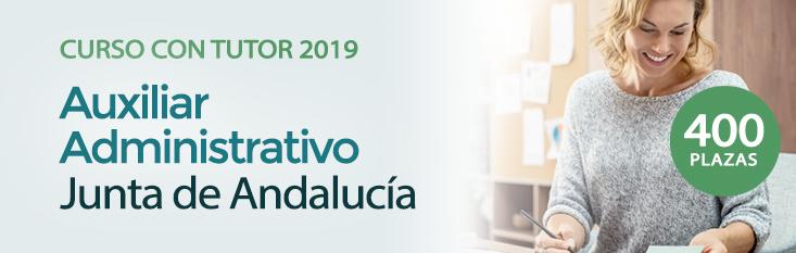 Prepárate con nuestro curso online con turor para las oposiciones de Auxiliar Administrativo de la Junta de Andalucía